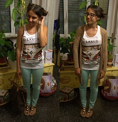 Federica Delprino - Louis Vuitton Bag, Sisley Cardigan, S&G Top, H&M Pants, Prima Ele Sandals (Modified By My Grandma And Me), Marc By Jacobs Photochromatic Glasses - Where is my Summer?