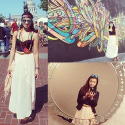 Lui Raymundo - Forever 21 Skirt, Marilyn Monroe Corset, Ray Ban Sunnies, Cmg Sandals - Got pride?!