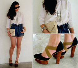 Amabelle Lim - Topshop Body Chain Necklace, H&M Straw Clutch - Simply