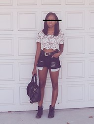 Candace P. - Thrifted High Waisted Shorts - Set it off.