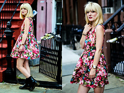 Olivia Taylor - Dress, Marc By Jacobs Watch, Dr. Martens Boots - Wall Flower