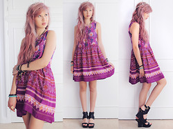 Amy Valentine - Minkpink Bohemian Rhapsody Dress, Choies Leather Strappy Sandals - BOHEMIAN RHAPSODY