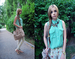 Mary Ko - Guess? Bag, Ebay Sandals, Pull & Bear Pants - Casual pastel