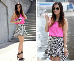 Tijana Cvetkovic -  - Hot pink and White leopard!