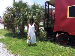 Simply Sassy's Style - A Stalker of Fashion - Lover of Cars - Gifted White Dress - Little Red Caboose