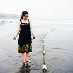 EZAI LUNG - Lanice Floral Dress, Aldo Black Slippers, Envirosax Reusable Bag - Lost At Sea