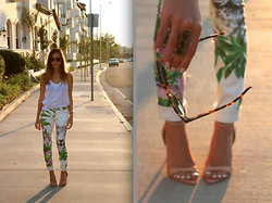 Sivan Ayla Vardi - Blanknyc Printed Pants - Tropic Fever (pants for sale $50!)