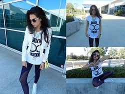 Amy Marietta - Forever 21 Top, Discover Pique Leggings, Converse Shoes, Urban Outfitters Sunglasses - Cali Flesh, Cali Fresh