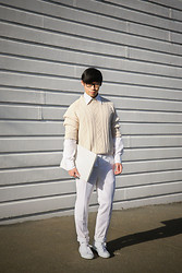 Chin from FOUREYES - Converse Shoes, Asos Pants, Seed Shirt - White and Cream