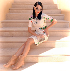 Konstantina Tzagaraki - Sheinside Dress, Zara Clutch, Choies Booties, Sunglasses - Its better to burn out than fade away..
