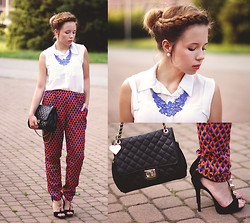 Wioletta Mary Kate - Romwe Shirt, Sugar And Style Pants, Awwdore Necklace, Marc B Bag, Iclothing Shoes - Pattern