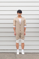 Chin from FOUREYES - Dr. Martens Shoes, Ab Normal Jumpsuit - Sand Jumpsuit