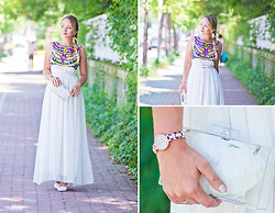 Olga Choi - Sheinside Dress, Zara Clutch, Sammydress Watch - White and the city