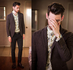 Edward Honaker - Calvin Klein Jacket, French Connection Uk Shirt, Paul Smith Pants, Bostonian (Similar) Shoes, Timex Watch - TIRED OF THE HATERS