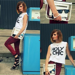 DEMI M - Forever 21 Top, River Island Jeans, Jeffrey Campbell Shoes, New Look Bag - W I L D - L O V E R S