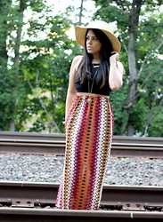 Naty Michele - Gypsy Warrior Skirt, Top, Charlotte Russe Hat - Aztec Love