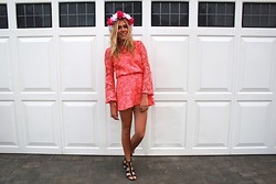 Charmaine Cowland - Topshop Crochet Dress, Topshop Heeled Sandals, A Gift Flower Crown - 110713