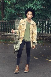 Thanh Truong - H&M Hat, Topshop Jacket, H&M Skinny Jean, Topman Jumper, J Shoes Boots, Somewhere Leather Bag - The Quiet type !
