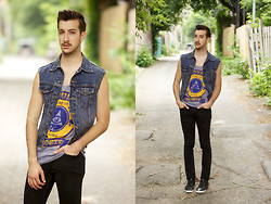 Nicolas Bg - Young Ghosts Clothing Tank Top, Levi's® Skinny Jean, Aldo Sneakers - Young Ghosts