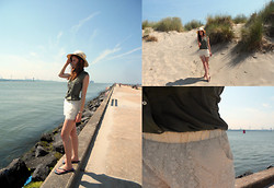 Sanne Van E. - H&M Army Blouse, The Sting Lace Short - Summer is here!