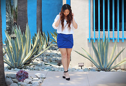Cindy C. - Threadsence Heels, Silk Top (Worn As Skirt), Mexy Blouse - Simplicity is Key.