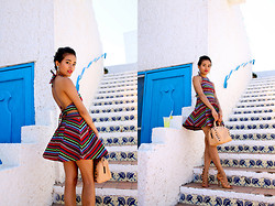 Olivia Lopez - 2 Bandits Pick Up Stick Earrings, 2 Bandits Sunshine Dream Cuff, Loeffler Randall Duffel Bag, Love New Mexico Dress - Bonita Applebum