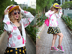 Aiiness .com - Hyperjive Cap, Rounded Sunnys, Nike Jacket, Sabs Creation Neckale, Platform Bart Leather Skirt, Claire's Mini Pink Backpack, Forever 21 Leopard Sneakers - Funny Step
