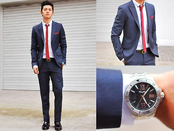 David Guison - Topman Blazer, Thomas Sabo Watch, Thomas Sabo Pants, Topman Tie, Topman Polo - Suit Yourself