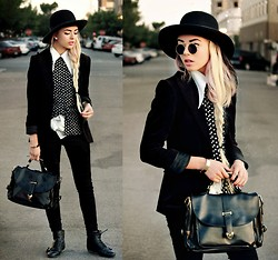 KENDALL SANCHÈZ - Sunglasses Diy, Bag, White Blouse, Spotted Shirt, Hair Extentions - .SPOTTED MAN.