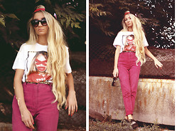 ♡Anita Kurkach♡ - Xdhk T Shirt, River Island Shoes, Supreme Hat - Time goes by so slowly for those who wait.No time to hesitat