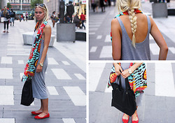 Fanny Larsson - Cheap Monday Dress, Mango Printed Scarf, Topshop Ballerinas, Marc By Jacobs Watch - The boulevard of broken dream