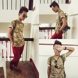 Ed Domingo - Thrifted Rucksack, Land Rover Shoes, Penshoppe Pants - CRYPTIC COLORATION