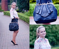 Angelika Martko - Persun Skirt, New Look Bag - Flowers shirt