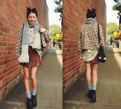 Yan Yan Chan - Topshop Boots, American Apparel Socks - Back to thrift