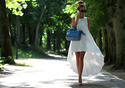 Magdalena Knitter - Sylwia Majdan Dress, Hermës Bag, Christian Louboutin Shoes - In white...