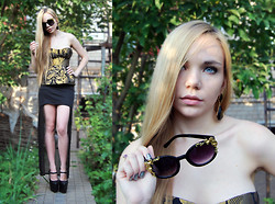 Mary Ko - Asos Body, Ebay Heels, Zara Skirt, Choies Sunglasses - Baroque one more time.