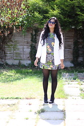 S Z - Topshop Top & Skirt, Topshop White Blazer - Two-piece