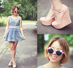Wioletta Mary Kate - Awwdore Dress, Plndr Shoes, Romwe Sunglasses - My New Hairstyle / Soo short ♥