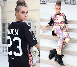 Paula Suchowera - Room 23 Fly Shirt, Room 23 Fly Leggings, Orska Machina Bracelet, Kuba Smaga Leather Lunch Bag, Diesel High Top Trainers - 23 CREW / A$ap Rocky - Phoenix
