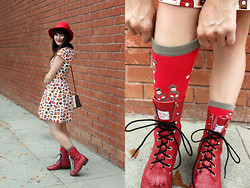 Jamie Shields - Modcloth Dress, Vintage Boots, Sock It To Me Socks, Vintage Hat - Lights, Camera, Take Action