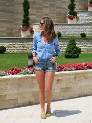 Jovana Radojicic - Choies Denim Shorts - Sun is UP!