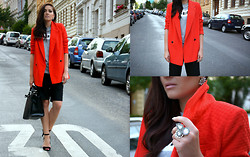 Monika Masina - Asos Coat/Blazer - Red coat