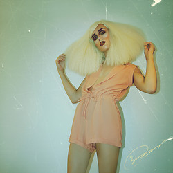 Bambi Borg - Dynamite Workin' My New Rockstarwig, Choies Pink Playsuit From - NIGHTCALL