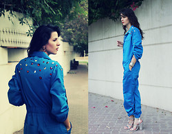 Susanna Vesna - Susanna Vesna Light Blue Overall, Zara Metallic Heels - Diamond Dust On My Shoulders