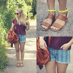 Joanna M - Monki Shirt, Broken Arrows Shorts, See By Chloé Sandals, Grafea Rucksack, Costo Sunnies - SOME SEE BY CHLOÉ