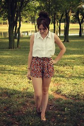 The Rambler - Forever 21 Top, The Elle Shorts, Diy Shoes - Who's that Girl