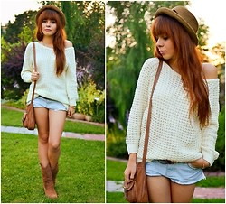 Ania W. - Wholesale Dress Sweater, Sh Shorts, Sh Bag - Evening
