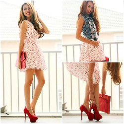 Eteclea E - Sammy Dress, Sammy Dress Denim Vest, Das Red Pumps - Feelin' Bubbly-SammyDress