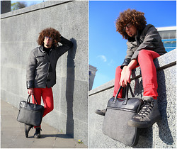 SexPotato . - Bershka Pants, Oodji Bag, Converse Sneakers - Total grey