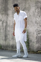 Marcus Branch - Kill City White Denim, Chippewa Painted Boots - Albedo